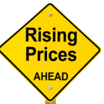 Rising Prices Ahead graphic