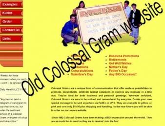New website for Colossal Gram!